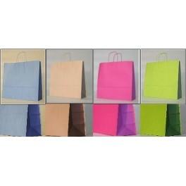 Shopper carta bicolor - Senza Stampa - con manico ritorto